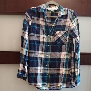 Old Navy Blue Flannel